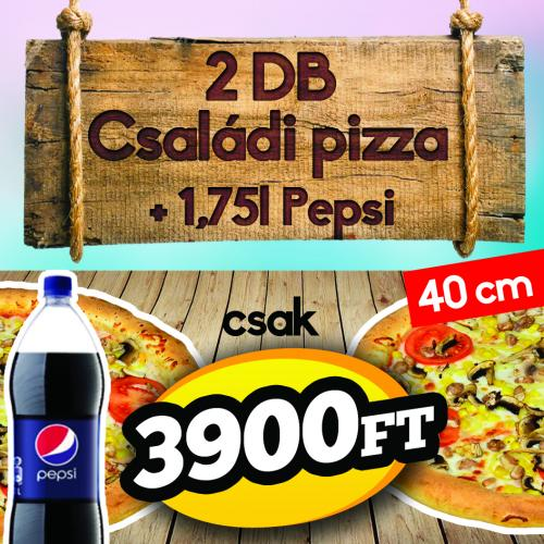 1b888168e3 Pizza King 7 - 2 darab Családi pizza 1,75 literes Pepsivel - Szuper ajánlat